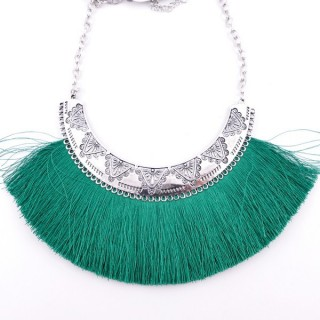36239-16 FASHION JEWELRY METAL NECKLACE WITH TASSEL