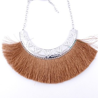 36239-19 FASHION JEWELRY METAL NECKLACE WITH TASSEL