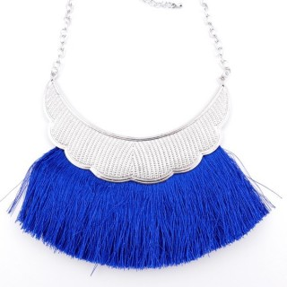 36239-25 FASHION JEWELRY METAL NECKLACE WITH TASSEL