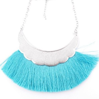 36239-26 FASHION JEWELRY METAL NECKLACE WITH TASSEL