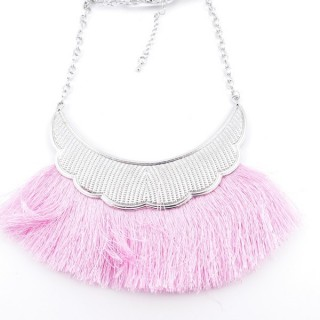 36239-27 FASHION JEWELRY METAL NECKLACE WITH TASSEL