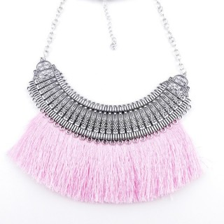 36239-31 FASHION JEWELRY METAL NECKLACE WITH TASSEL