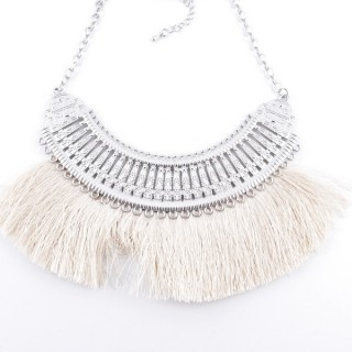 36239-32 FASHION JEWELRY METAL NECKLACE WITH TASSEL