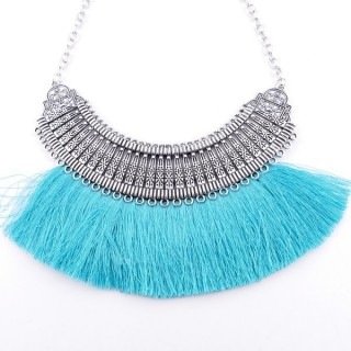 36239-33 FASHION JEWELRY METAL NECKLACE WITH TASSEL