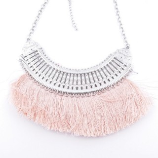 36239-34 FASHION JEWELRY METAL NECKLACE WITH TASSEL