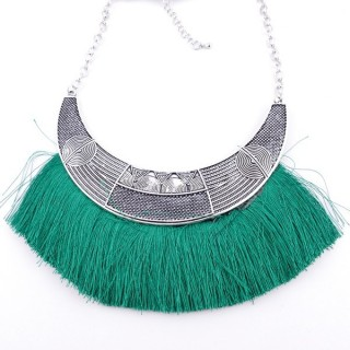 36239-37 FASHION JEWELRY METAL NECKLACE WITH TASSEL