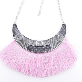 36239-39 FASHION JEWELRY METAL NECKLACE WITH TASSEL