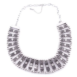 36260-07 METAL FASHION JEWELRY NECKLACE WITH OR WITHOUT EARRINGS