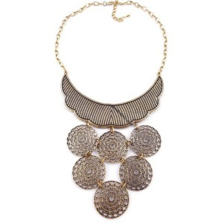 36260-34 METAL FASHION JEWELRY NECKLACE WITH OR WITHOUT EARRINGS
