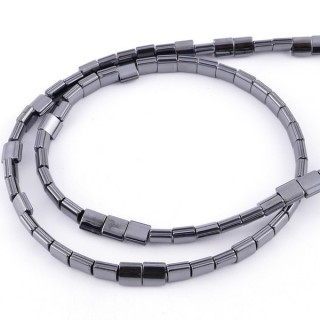 42631-05 STRING OF 80 SQUARE SHAPED 5 MM HEMATITE BEADS