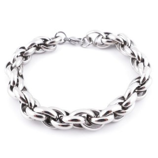 36055 STAINLESS STEEL MENS' 11 MM X 22 CM BRACELET
