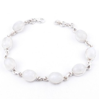 36027 STERLING SILVER AND MOONSTONE 19 CM BRACELET