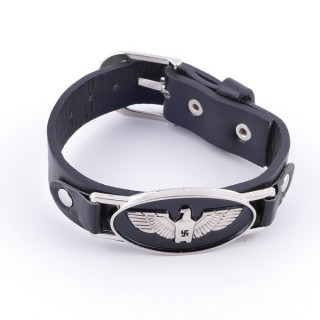 36226-01 SYNTHETIC LEATHER BRACELET WITH METAL RIVETS
