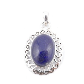 34399-03 SILVER 925 33 X 22 MM PENDANT WITH STONE IN LAPIS LAZULI
