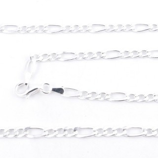 39541 STERLING SILVER 45 CM LONG NECK CHAIN: 3+1P100
