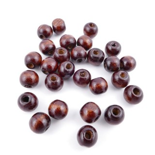 36273-02 PACK OF 1 KILO OF 10 MM ROUND WOODEN BEADS