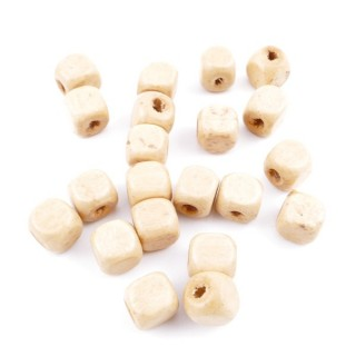 36272-04 PACK OF 1 KILO OF 8 MM CUBIC WOODEN BEADS