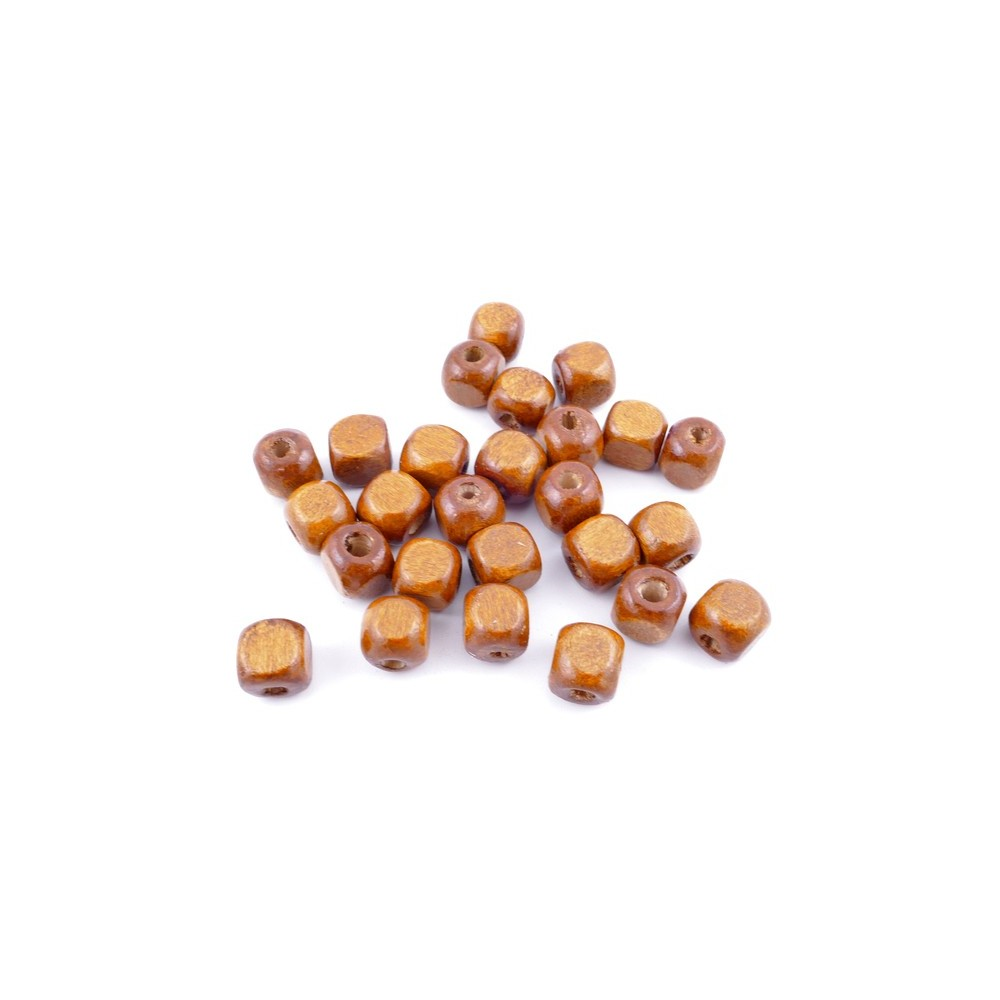 36272-03 PACK OF 1 KILO OF 8 MM CUBIC WOODEN BEADS