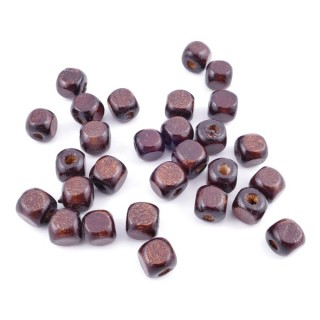 36272-02 PACK OF 1 KILO OF 8 MM CUBIC WOODEN BEADS
