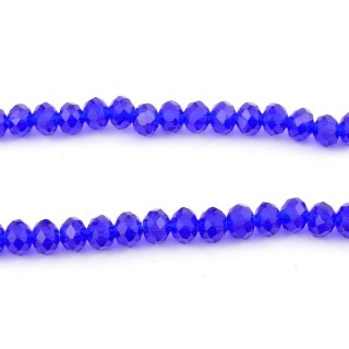 35831-06 STRING OF 100 FACETED 6 MM DOUGHNUT SHAPED GLASS BEADS
