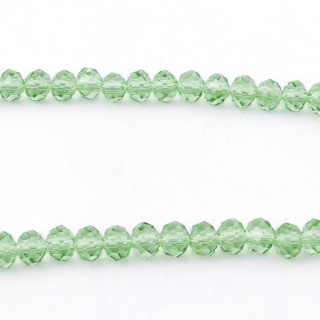 35831-11 STRING OF 100 FACETED 6 MM DOUGHNUT SHAPED GLASS BEADS