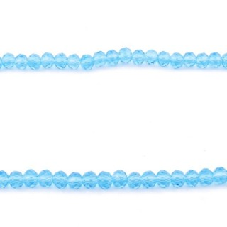 35830-10 STRING OF 100 FACETED 4 MM DOUGHNUT SHAPED GLASS BEADS