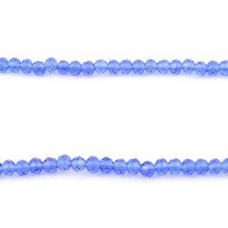 35830-13 STRING OF 100 FACETED 4 MM DOUGHNUT SHAPED GLASS BEADS