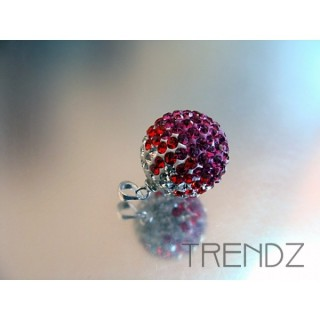 14846 FUCHSIA 16MM SILVER ZIRCON BALL PENDANT