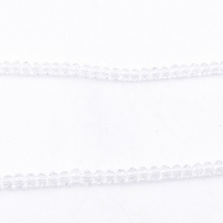 35829-01 STRING OF 150 FACETED 3 MM DOUGHNUT SHAPED GLASS BEADS