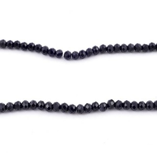 35829-02 STRING OF 150 FACETED 3 MM DOUGHNUT SHAPED GLASS BEADS