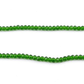 35829-04 STRING OF 150 FACETED 3 MM DOUGHNUT SHAPED GLASS BEADS