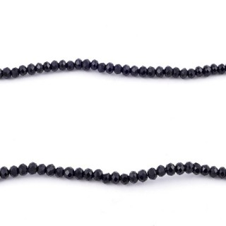 35828-02 STRING OF 200 FACETED 2 MM DOUGHNUT SHAPED GLASS BEADS