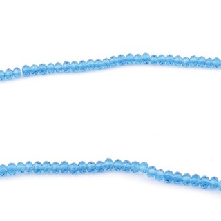 35828-08 STRING OF 200 FACETED 2 MM DOUGHNUT SHAPED GLASS BEADS