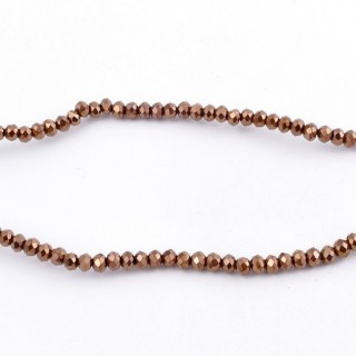 35828-20 STRING OF 200 FACETED 2 MM DOUGHNUT SHAPED GLASS BEADS