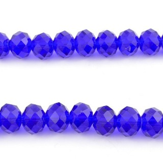 35833-06 STRING OF 72 FACETED 10 MM DOUGHNUT SHAPED GLASS BEADS