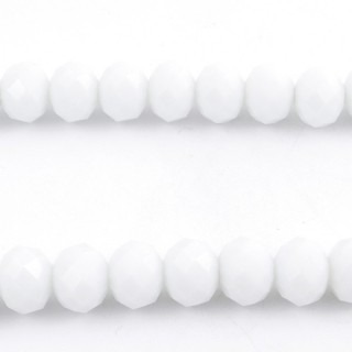 35833-07 STRING OF 72 FACETED 10 MM DOUGHNUT SHAPED GLASS BEADS