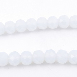 35833-09 STRING OF 72 FACETED 10 MM DOUGHNUT SHAPED GLASS BEADS