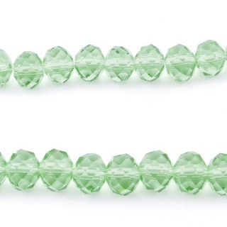 35833-11 STRING OF 72 FACETED 10 MM DOUGHNUT SHAPED GLASS BEADS