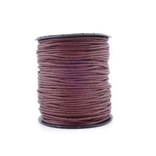 36247-02 ROLL OF 90 METERS OF 1,5 MM WAX CORD IN BROWN