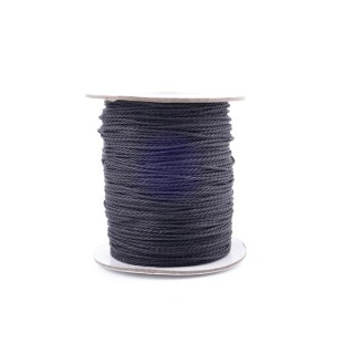 36244-01 ROLL OF 90 METERS OF BRAZILIAN 1 MM WAX CORD IN BLACK