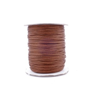36244-02 ROLL OF 90 METERS OF 1 MM BRAZILIAN WAX CORD IN BROWN