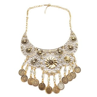 23247-253 SHORT METAL FASHION JEWELRY NECKLACE