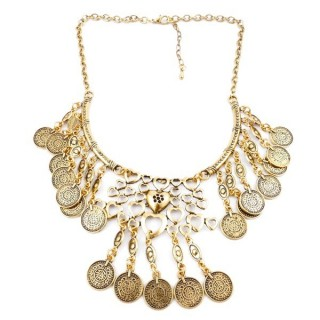 23247-261 SHORT METAL FASHION JEWELRY NECKLACE