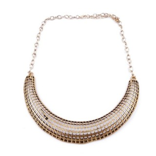 30669-30 SHORT METAL FASHION JEWELRY NECKLACE