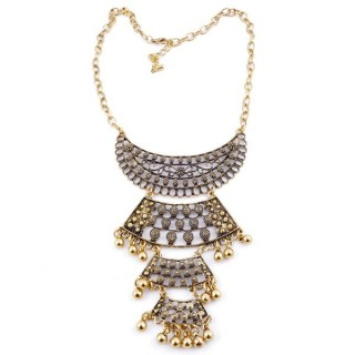30669-28 SHORT METAL FASHION JEWELRY NECKLACE