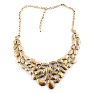 30669-14 SHORT METAL FASHION JEWELRY NECKLACE