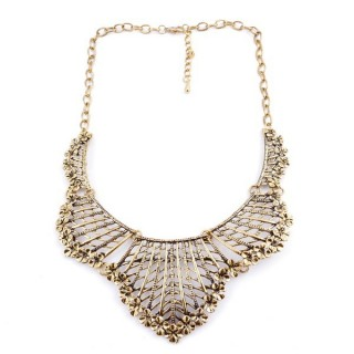 30669-02 SHORT METAL FASHION JEWELRY NECKLACE