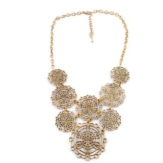 29171-74 SHORT METAL FASHION JEWELRY NECKLACE
