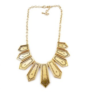 26113-40 SHORT METAL FASHION JEWELRY NECKLACE