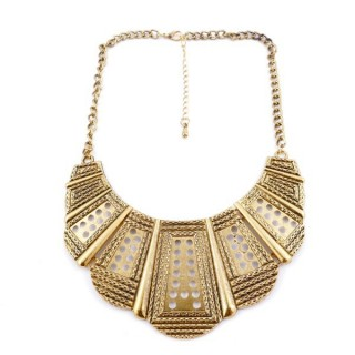 26113-35 SHORT METAL FASHION JEWELRY NECKLACE